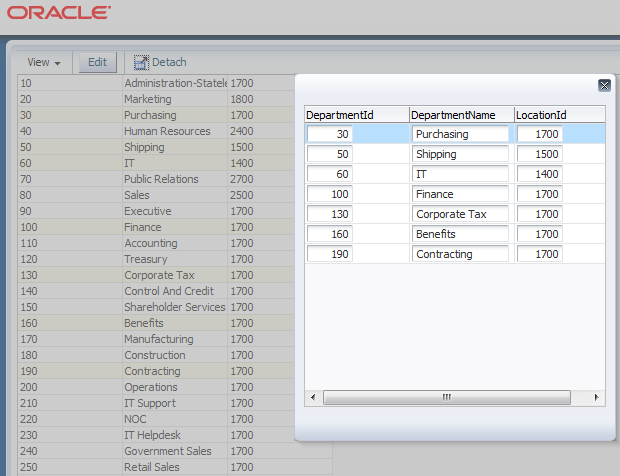 Unwinding ADF: Display multiple selected rows from ADF table in a