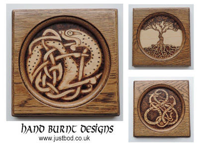 Pyrography Celtic & Viking Wall Plaques