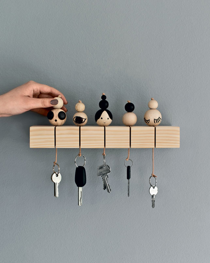diy to try key chain ohoh blog. Black Bedroom Furniture Sets. Home Design Ideas