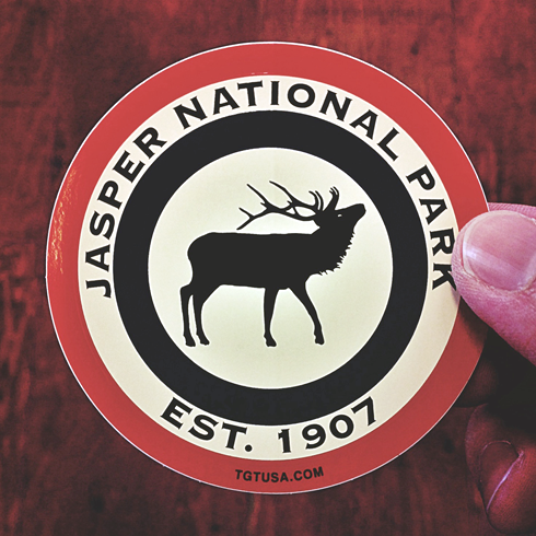 Jasper Alberta Sticker