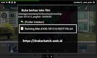 menambah SRT Manampilkan subtitle bahasa indonesia