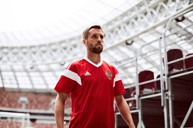 save off 1d976 fcde5 Russia 2018 World Cup Kit Revealed - Footy Headlines
