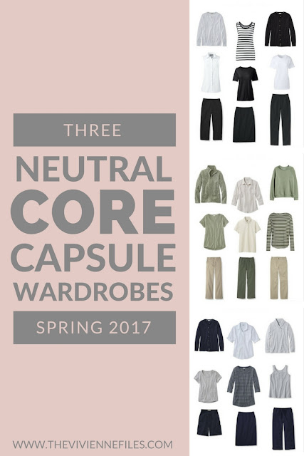 Three Neutral Core Capsule Wardrobes for Spring 2017