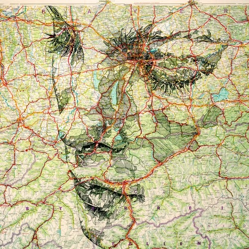10-1977-Road-Map-of-Germany-Welsh-Freelance-Artist-Ed-Fairburn-Map-Portraits-www-designstack-co