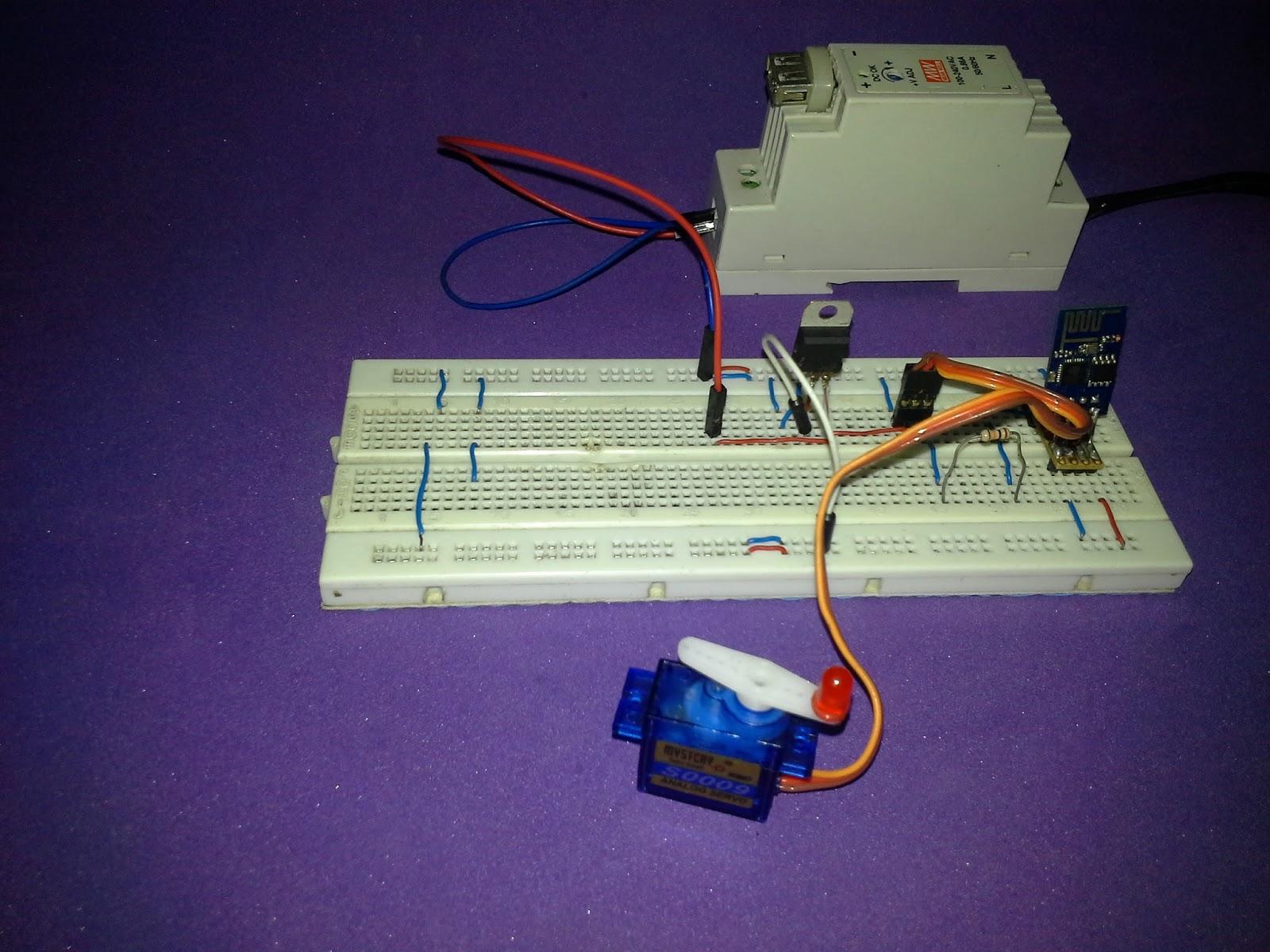 Tutorial ESP8266 Control Servo Node-RED MQTT (Mosquitto) IoT