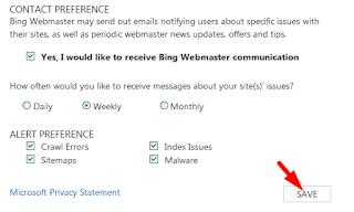 ping webmaster tool