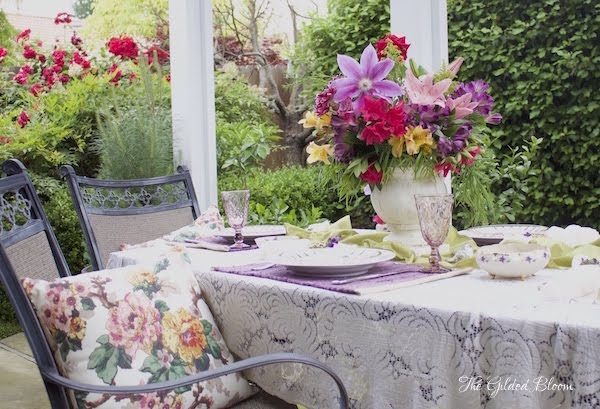 A Luncheon in the Garden- www.gildedbloom.com