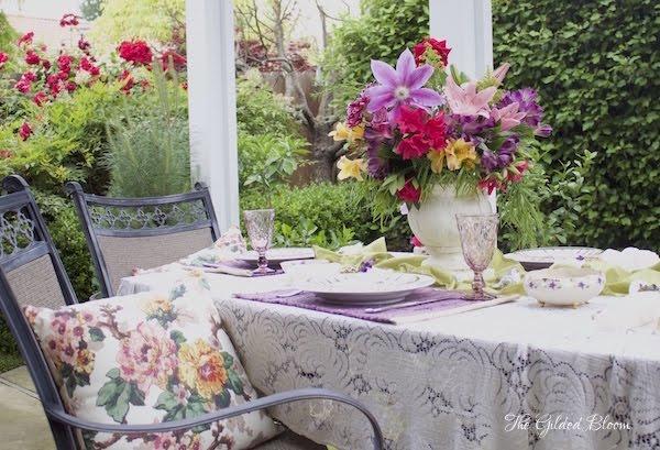A Luncheon in the Garden- www.gildedbloom.com