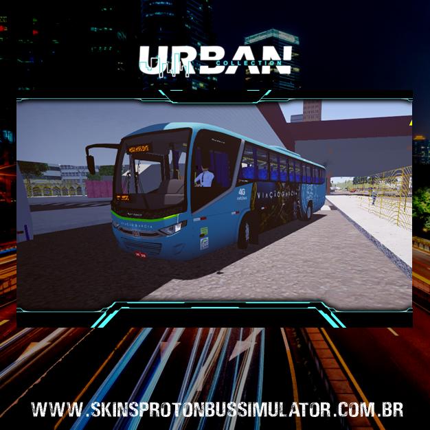 Skin Proton Bus Simulator: Marcopolo Audace MB OF-1721 4X2 Viação Garcia