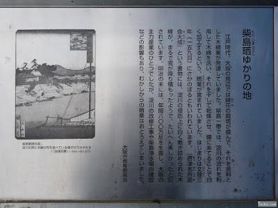 柴島神社 柴島晒ゆかりの地案内板