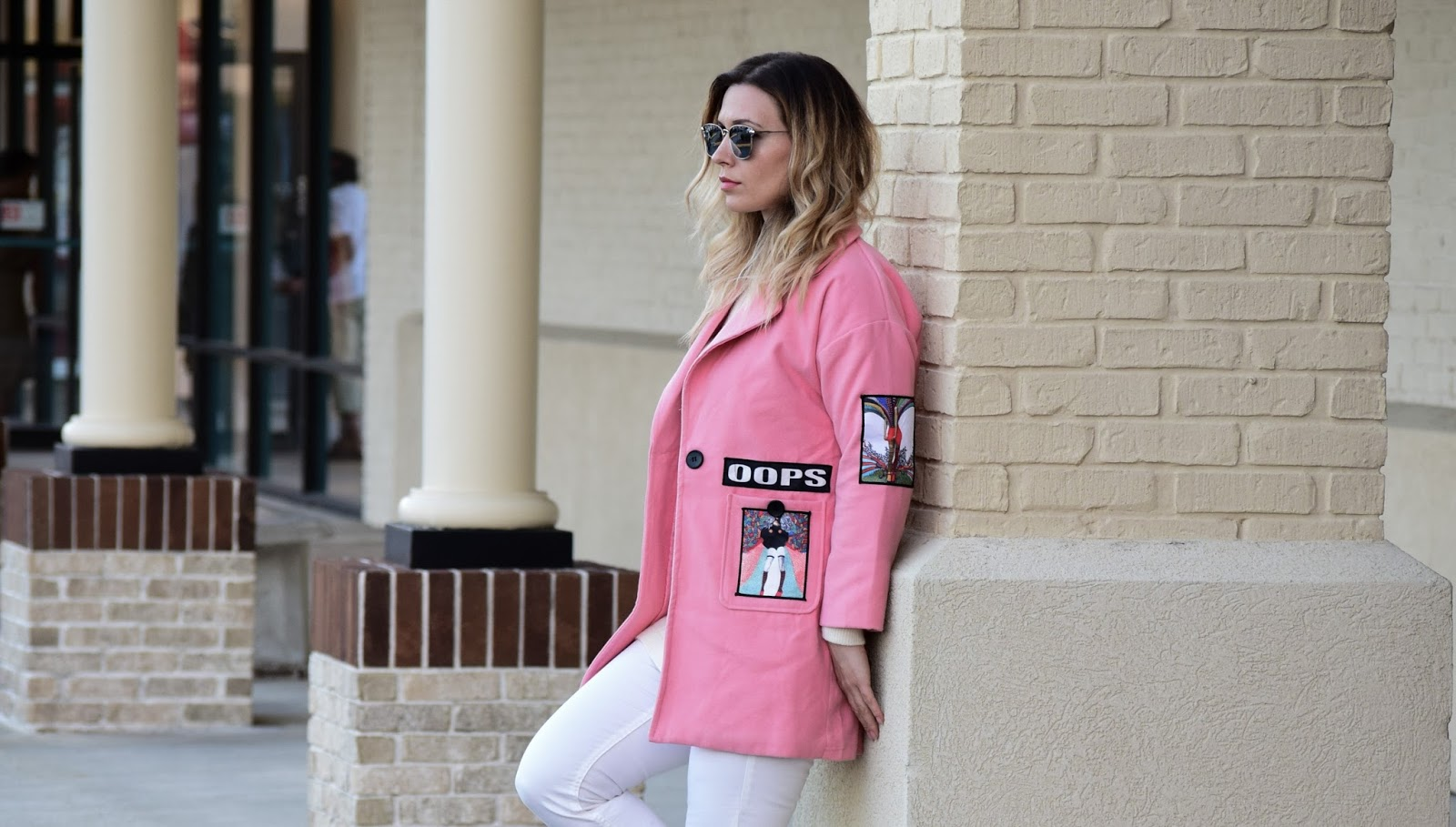 The pink coat is amazing. My favorite part are the unique patches and I  don't mind that the color is a bit different than pictured on their website.