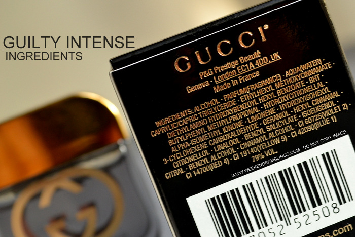 b05797406e Gucci Guilty Intense Eau de Parfum EDP Designer Perfume Fragrance for Women  Deluxe Sampler Coffret Indian