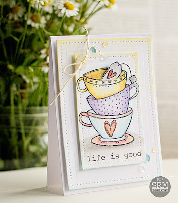 SRM Stickers Blog - Life is Good by Michele - #card #stamps #janesdoodles  #teatime #stickers