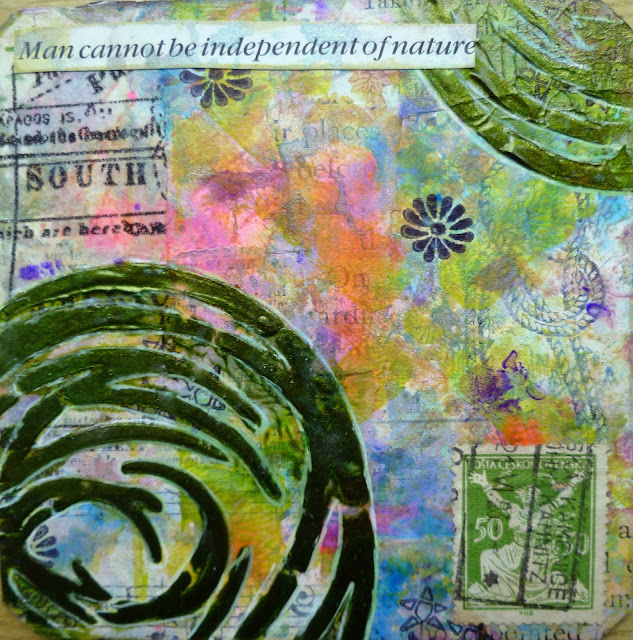 Frieda Oxenham: Collaged Cards with StencilGirl® Stencils