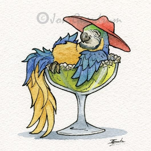 09-Margarita-Macaw-Jon-Guerdrum-Drawings-of-Surreal-Drinking-Visions-of-Animals-www-designstack-co