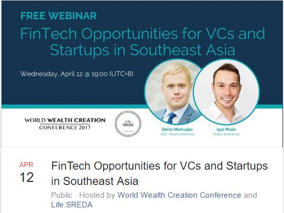 free webiner fintech oppotunities for vcs and startups in southeast asia