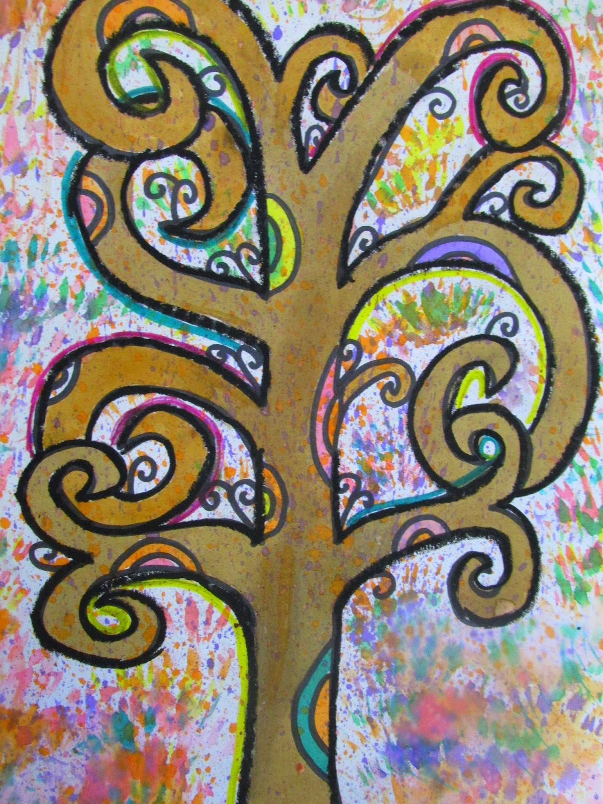 blue willow contemplations tree of life art project