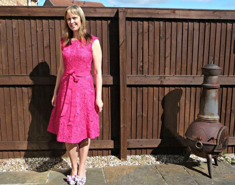 Pink dress Irregular Choice shoes