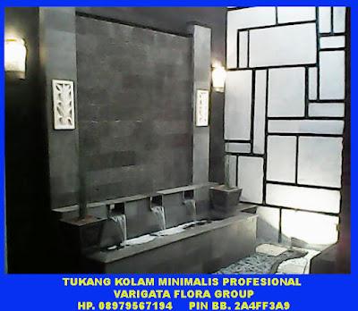 jasa pembuat kolam minimalis di pondok indah , kolam air terjun , air terjun dinding minimalis