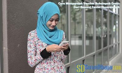 Cara Memperoleh Voucher Bukalapak Gratis Dari Reward Center Nusaresearch | SurveiDibayar.com