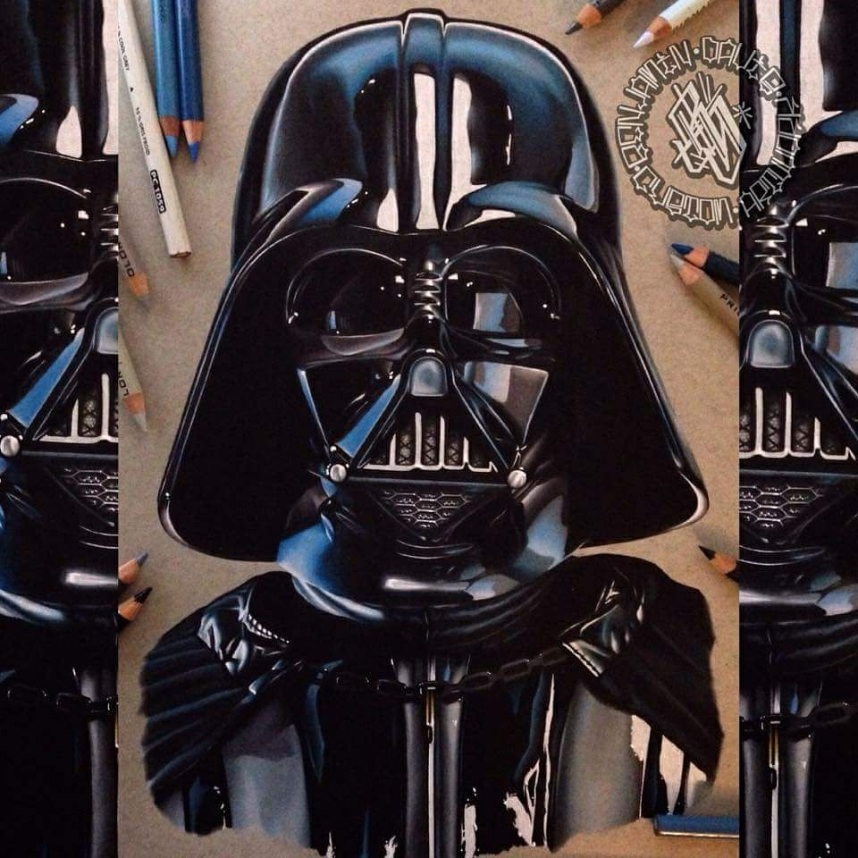 09-Star-Wars-Darth-Vader-Benjamin-Davis-Superheroes-and-the-Dark-Side-Drawings-www-designstack-co