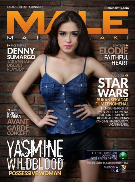 Foto Seksi Yasmine Wildblood Di Male Magazine