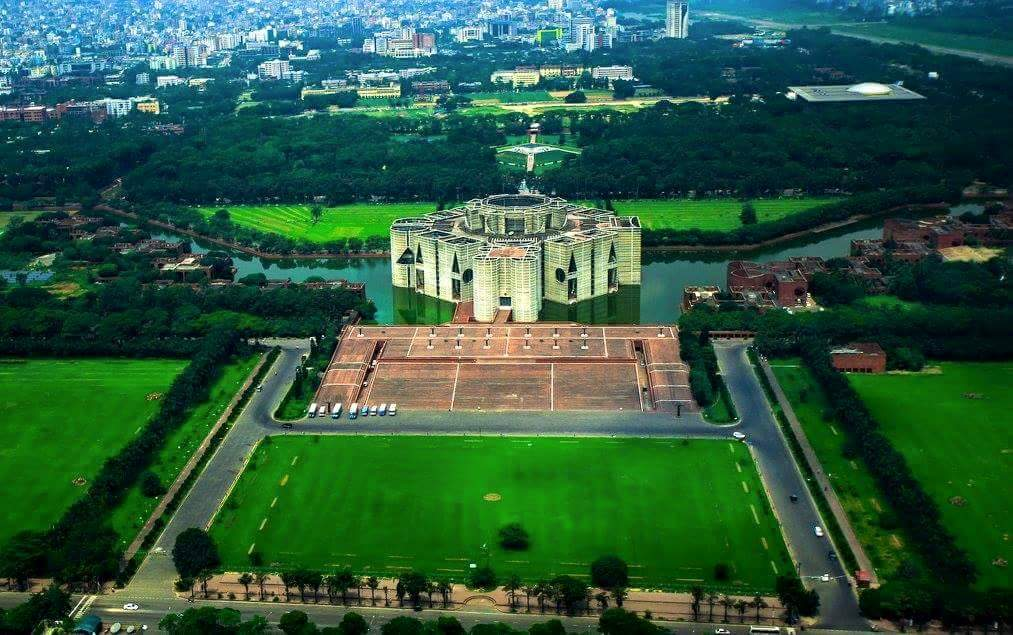 Birds eye aerial view of bangladesh for Bangladesh house picture