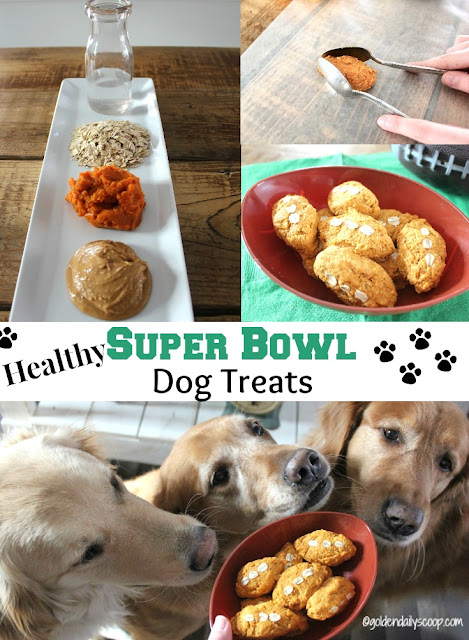 healthy homemade three ingredient super bowl dog treats