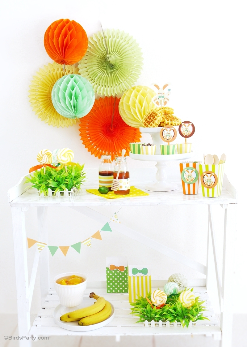 How to Set up an Easter Waffle Bar - BirdsParty.com