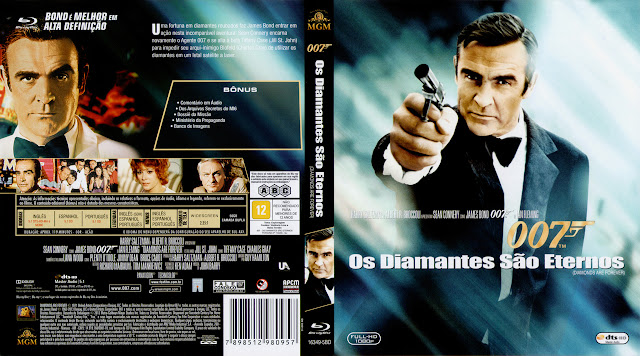 Capa Blu-ray Os Diamantes São Eternos