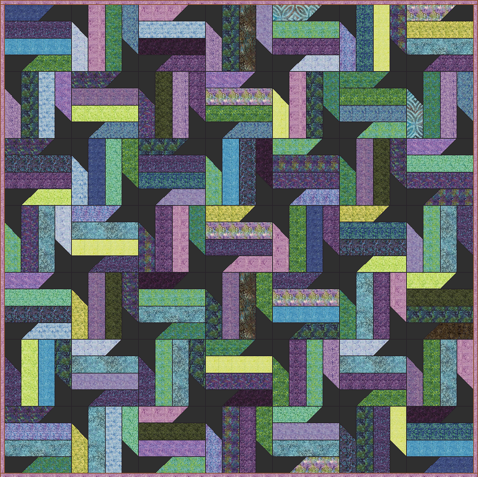 Free Quilt Patterns Using Jelly Roll Strips : Lets Quilt Something: Nebula - Free Quilt Pattern - Jelly Roll