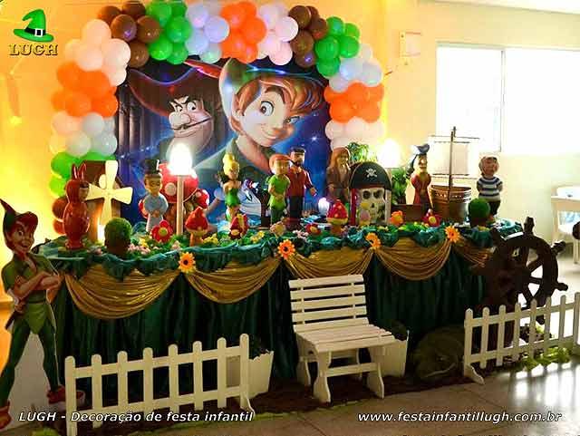 Decoração tradicional luxo para aniversário tema Peter Pan