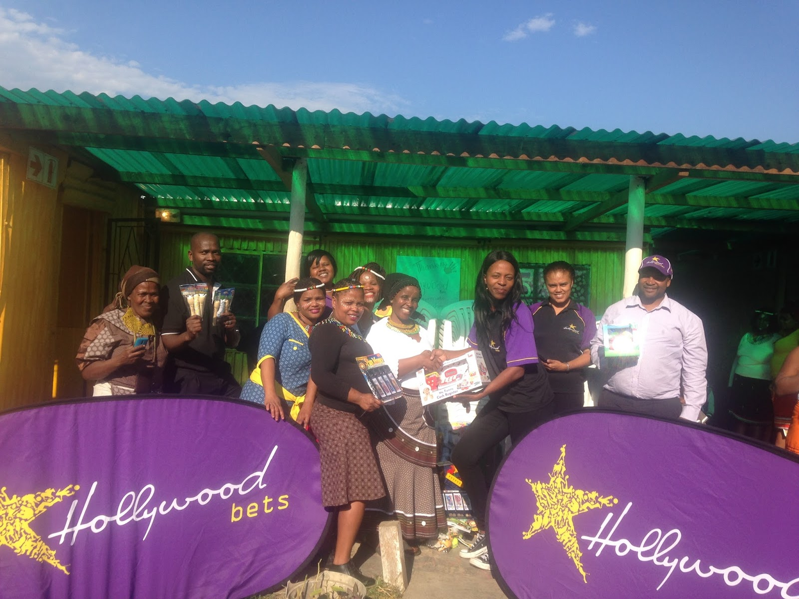 Zamani Day Care Centre receives a donation of chairs, educational toys and books from Hollywoodbets Quigney