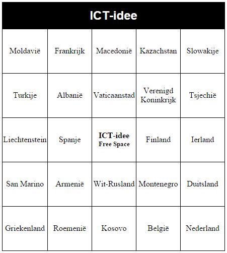 Voorkeur ICT-idee: 213. Maak je eigen bingokaarten met OSRIC Bingo Card @OA11