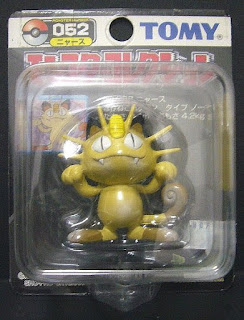 Meowth Pokemon figure Tomy Monster Collection black package series