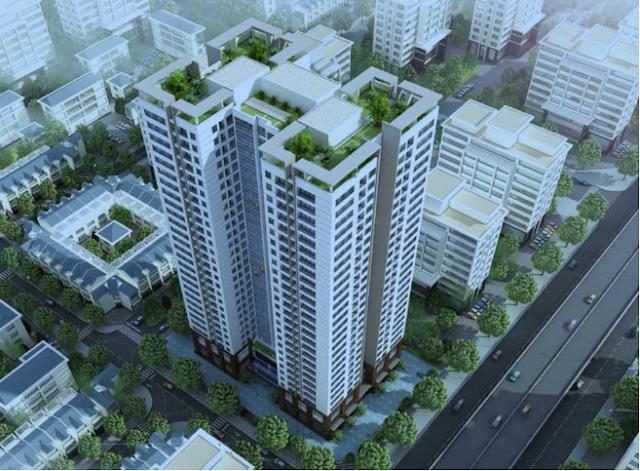 Tổng thể dự án căn hộ chung cư Housinco Grand Tower.