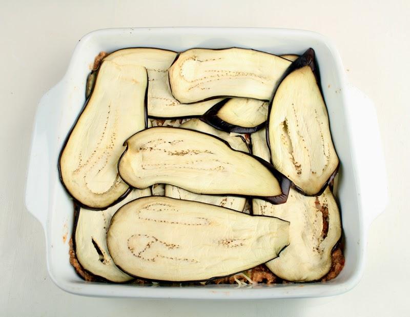 Oppskrift Auberginegrateng Moussaka Fløtekokt Soy4you Soyakjøtt Kjøtterstatning Vegetar Vegan Havrefløte