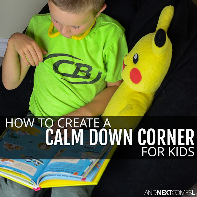 Tips for creating a calm down space for kids