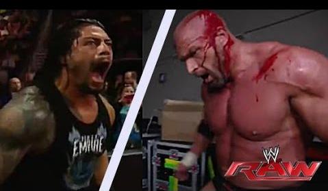 Roman Reigns VS Triple H WWE WrestleMania 32, 2016