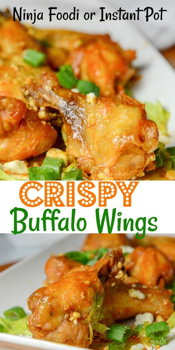 Instant Pot Or Ninja Foodi Crispy Buffalo Wings Recipes