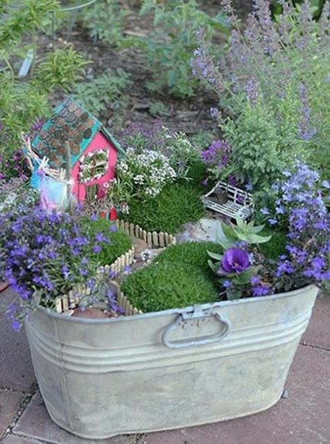 How to recycle miniature fairy garden designs Small garden fairies