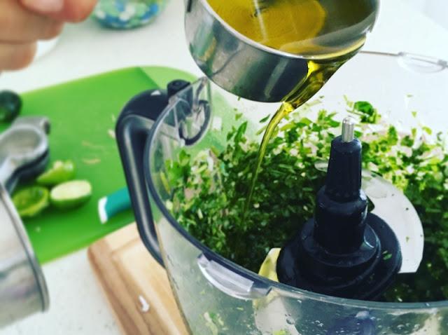 Tacos de Fajitas de Res con Chimichurri - Fajitas - ingredientes chimichurri