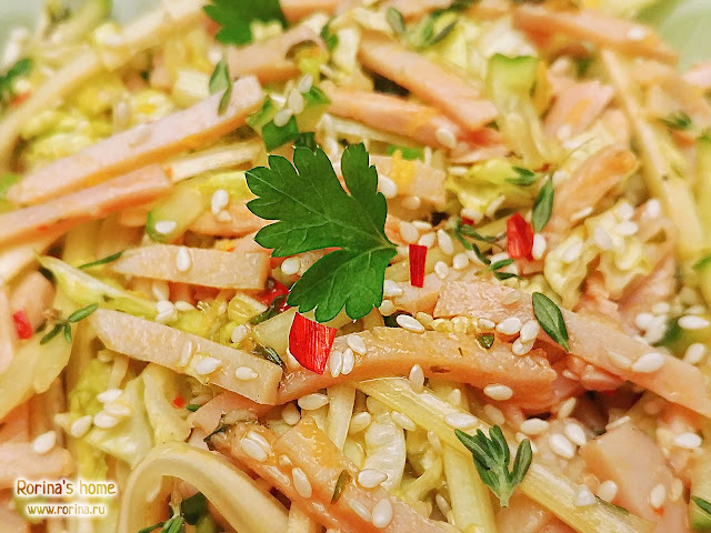 Азиатский салат с мясом: пошаговый рецепт