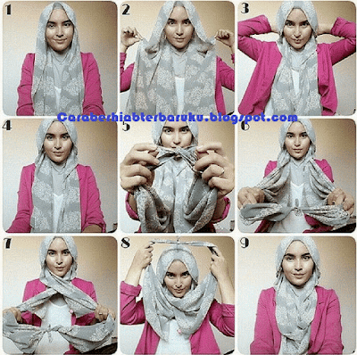 Tutorial hijab paris simple terbaru Ria Ricis
