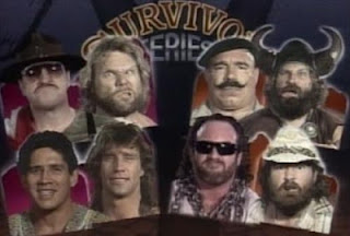 WWF / WWE SURVIVOR SERIES 1991 - Jim Duggan, Sgt. Slaughter, Tito Santana and Texas Tornado vs. Col. Mustafa, Bezerker, Skinner and Hercules