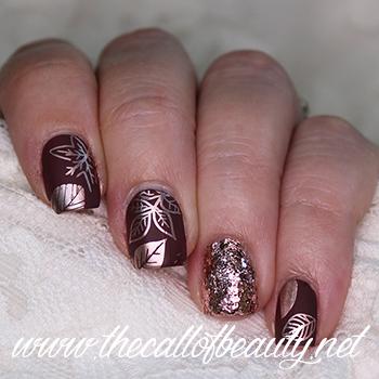 Rose Gold Fall Nail Art
