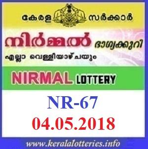 NIRMAL NR-67 LOTTERY RESULT
