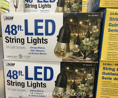Brighten up your outdoor entertaining with the Feit Electric 48ft LED String Lights