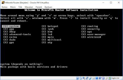 Memilih Paket Yang Di Install Mikrotik RouterOS