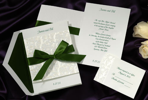ribbon wedding invite 2011